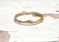 Gold Garland Ring  Solid 14kt Gold Wedding Ring by OliviaEwing, $168.00