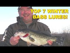 7 Best Lures For Winter Bass Fishing (Big Fish Baits) | Bass Fishing - YouTube Bass Fishing Tips, Fishing Bait, Winter Fishing, Bass Lures, Big Fish, Great Shots, Youtube