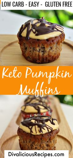 Nutritious Snack Tips For Equally Young Ones And Adults These Keto Pumpkin Muffins Are Baked With Coconut Flour And Are Moist And Soft. The Warmth Of The Spices Make This A Perfect Muffin For Fall. Keto Friendly Desserts, Low Carb Desserts, Healthy Desserts, Diabetic Snacks, Keto Cookies, Keto Cupcakes, Almond Cookies, Gourmet Recipes, Low Carb Recipes