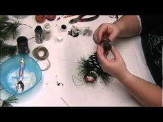 Part 3 of Christmas Pinecone Snowman Ornament.wmv