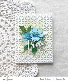 Altenew Cards, Love Stamps, Embossed Cards, Bunch Of Flowers, Flower Cards, Birthday Cards, Happy Birthday, Cardmaking, Stencils