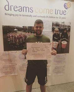 Joe Fuccio, who completed his dream of running the London Marathon whilst raising money for the charity.