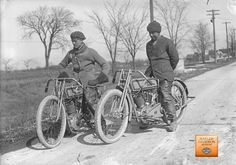 H-D factory race team members on their 1915 model 11-K's.