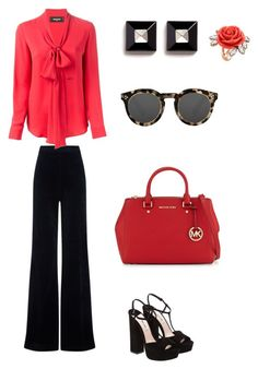 """Thursday fun"" by reenasaxena-1 on Polyvore featuring AG Adriano Goldschmied, Dsquared2, Givenchy, Miu Miu, Mawi, MICHAEL Michael Kors and Illesteva"