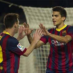 Messi and Marc Bartra FC Barcelona