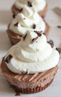 Frozen Creamy Chocolate Mini Pies