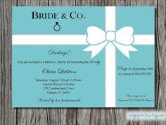 Frühstück bei Tiffany's Bridal Shower Einladung von pegsprints
