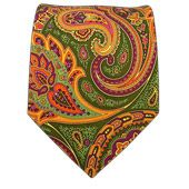 """Ties"" all the colors together !   Paisley Presentation - Clover - Paisley Presentation - Clover Ties"