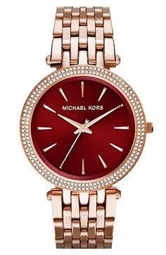 MICHAEL Michael Kors Michael Kors 'Darci' Round Bracelet Watch, 39mm. MY god, so so beautiful!! *drooling*