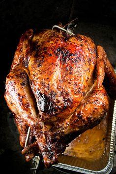 Rotisserie Orange and Ginger Turkey — Another Pint Please Rotisserie Turkey, Grilled Turkey, Smoke Grill, Orange Slices, Turkey Breast, Turkey Recipes, Food Hacks, Grilling, Thanksgiving