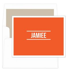 Orange Bold Foldover Note Cards