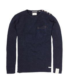Recycle Denim Sailor Pullover > Mens Clothing > Pullovers at Scotch & Soda