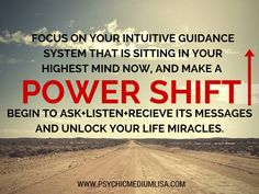 Focus on your intuitive guidance