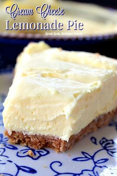 Cream Cheese Lemonade Pie is super creamy deliciously lemony and tart and is an easy no-bake dessert recipe everyone loves. Cream Cheese Lemonade Pie is super creamy deliciously lemony and tart and is an easy no-bake dessert recipe everyone loves. Lemon Dessert Recipes, Lemon Recipes, Sweet Recipes, Easy Recipes, Delicious Recipes, Lemon Aid Recipe, Hawaiian Dessert Recipes, Simply Recipes, Healthy Recipes