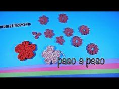 Como tejer flor punto alargado ganchillo, crochet easy flower DIY - YouTube