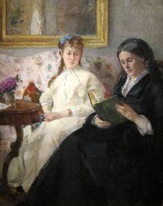 Berthe Morisot, Mãe e irmã da artista, Marie-Joséphine & Edma. 1869/70