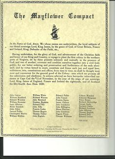 William white ancestor- Shown on the list as a signer of the Mayflower Compact Genealogy Sites, Genealogy Research, Family Genealogy, Genealogy Chart, History Facts, World History, Family History, Teaching Social Studies, Teaching History