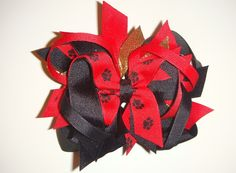 DIY Baby christmas ribbon Hair Clips | ... Hair Bows for Girls, Custom Boutique Hair Bows, Baby Boutique Hair