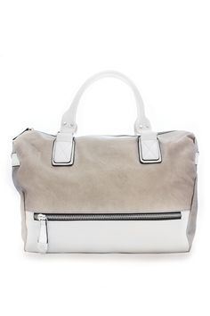 A creamy clay hue contrasted with crisp white handles and detailing makes Neale preppy and posh.