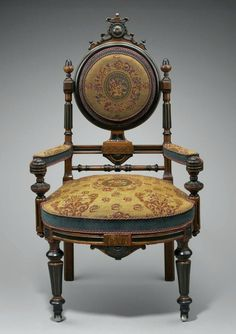 This chair is of 1860's vintage.