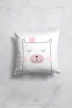 Kids pillow, baby pillow, bear pillow, Scandinavian decor, throw pillow, kids cushion, decorative pillow, toddler pillow, pillow cover by OttoandPixelsDesign on Etsy Baby Pillows, Kids Pillows, Designer Throw Pillows, Decorative Throw Pillows, Scandinavian Kids Rooms, Toddler Pillow, Handmade Baby Clothes, Baby Room Decor, Nursery Decor