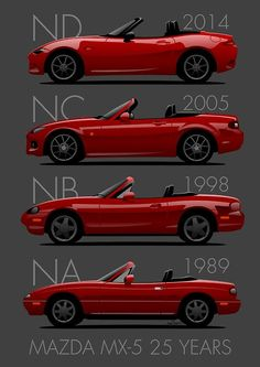 Been around for 25 years! My husband and I just got our Mazda Miata for our anniversary! Mazda Mx 5, Mazda Cars, Mazda Miata, Mx5 Na, Opel Gt, Automobile, Mazda6, Cabriolet, Japanese Cars