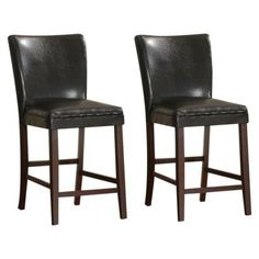 2 Pc Morton Parson Counter Height Chairs - Cherry