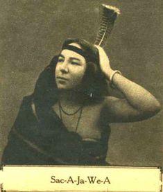 An old photograph of Sac-A-Ja-We-A aka Sacajawea - Shoshone.