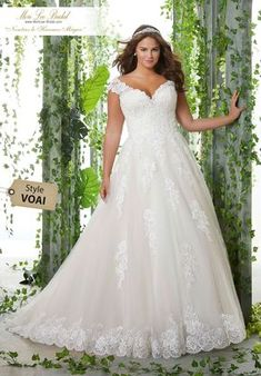 62a5a09355f4 64 Super Gorgeous Plus-Size Wedding Dresses To Flatter You Best On ...