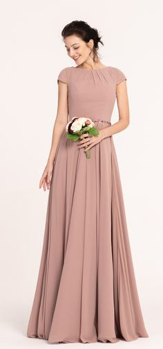 Nostalgia Rose Color Modest Bridesmaid Dresses Cap Sleeves Source by edresstore bridesmaid dress Bridesmaids Gowns With Sleeves, Cap Sleeve Bridesmaid Dress, Bridesmaid Dresses With Sleeves, Designer Bridesmaid Dresses, Modest Dresses, Designer Dresses, Elegant Bridesmaid Dresses, Bride Dresses, Indian Gowns Dresses