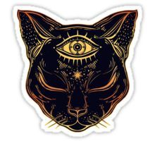 Egyptian Cat with Third Eye Open Sticker by MagneticMama Cat tattoo Egyptian Cat Tattoos, Egyptian Cats, Egyptian Symbols, Egyptian Cat Goddess, Egyptian Drawings, Bild Tattoos, Body Art Tattoos, Eye Tattoos, Script Tattoos