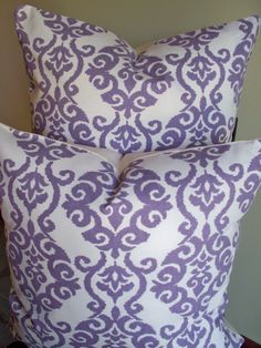 Set of 2 Lavender Cream Decorative Pillow Covers by linenandoak, $57.00