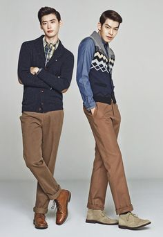 Hey there, you two can't be standing together - that's too much! (Lee Jong Suk and Kim Woo Bin)