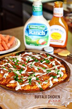 Buffalo Chicken Pizza recipe at TidyMom.net