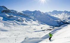 Iscghl skier on mountain