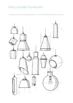 I highly like this clean and technical style. ---- Lamp No 2 by Andrew Mitchell at Coroflot.com.