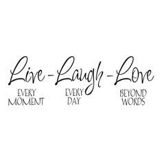 Live-Laugh-Love - Wallstyle.fi