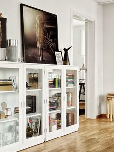 bookcases. and prints.