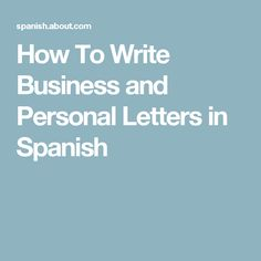 Writing an email in spanish