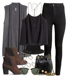 Style #9119 by vany-alvarado on Polyvore featuring polyvore, fashion, style, H&M, Chanel, Pieces, Relic, Deena & Ozzy and Ray-Ban