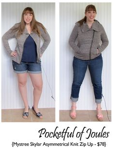 Stitch Fix Review - Mystree Skylar Asymmetrical Knit Zip Up - Pocketful of Joules #stitchfix
