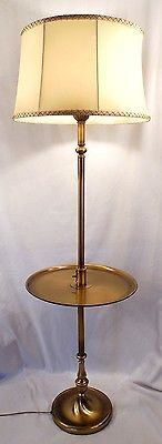 Iron Twist Base Wood Tray Table Floor Lamp Style  N Wood - Floor lamps with tables
