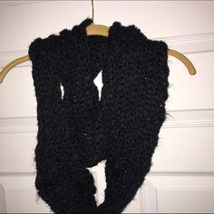 Black Knit Infinity Scarf Black, knit scarf Accessories Scarves & Wraps
