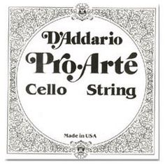 D'Addario Pro-Arte 4/4 Cello D String Medium Silver/Perlon by D'Addario. $16.02. Exceptional strings for serious students and amateur players. Pro-Arte strings have a warm sound, are less sensitive to humidity and temperature changes, and break in quickly.