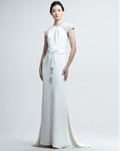Belted Deco Gown by Badgley Mischka Couture $3245