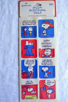 Vintage Snoopy Stickers - 1976 Bicentennial - A Sealed Package of 48 Plus Extra