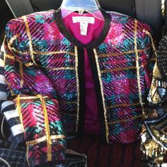 6ecf277d025 Vintage Sequins Jacket! Excellent condition! Has original should pads that  can be removed if