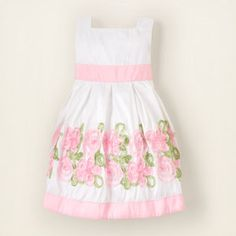 This Children's place ribbon dress would be perfect for a Church/Easter Dress Toddler Flower Girl Dresses, Baby Girl Dresses, Flower Girls, Toddler Outfits, Kids Outfits, Cute Outfits, Easter Outfit, Easter Dress, Little Fashionista