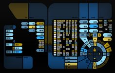 LCARS screens done for Star Trek Online. These were used to refresh textures used in the game's environment art.