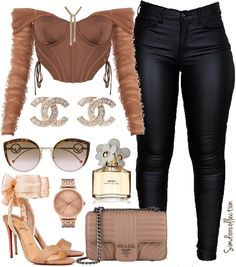 Baddie Outfits Casual, Boujee Outfits, Cute Swag Outfits, Curvy Outfits, Simple Outfits, Polyvore Outfits, Classy Outfits, Stylish Outfits, Fashion Outfits